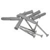 Handlauf für barrierefreies Bad 120 cm aus rostfreiem Edelstahl ⌀ 32 mm mit Abdeckrosetten