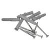 Stützgriff U-förmig für barrierefreies Bad 50 cm weiß ⌀ 32 mm mit Abdeckrosetten