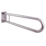 WC Klappgriff für barrierefreies Bad aus rostfreiem Edelstahl 60 cm ⌀ 32 mm