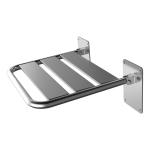 Duschklappsitz aus Edelstahl für barrierefreies Bad