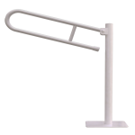 WC Klappgriff für barrierefreies Bad freistehend weiß 80 cm ⌀ 25 mm