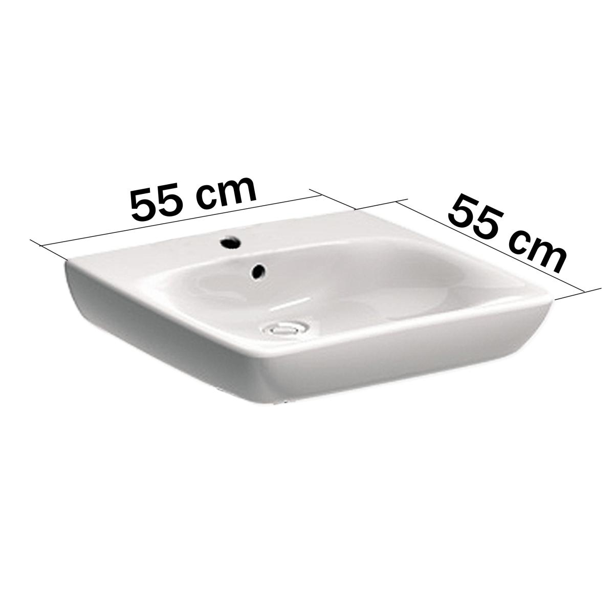 Unterfahrbare Waschtisch für barrierefreies Bad 55 x 55 cm ...