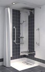 Duschvorhang für Dusche oder Badewanne 240 x 200 cm