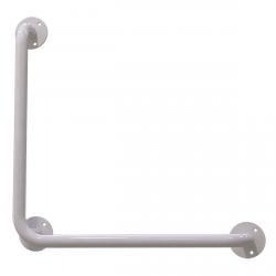 Winkelgriff 60/60 cm für barrierefreies Bad links/rechts montierbar weiß ⌀ 25 mm