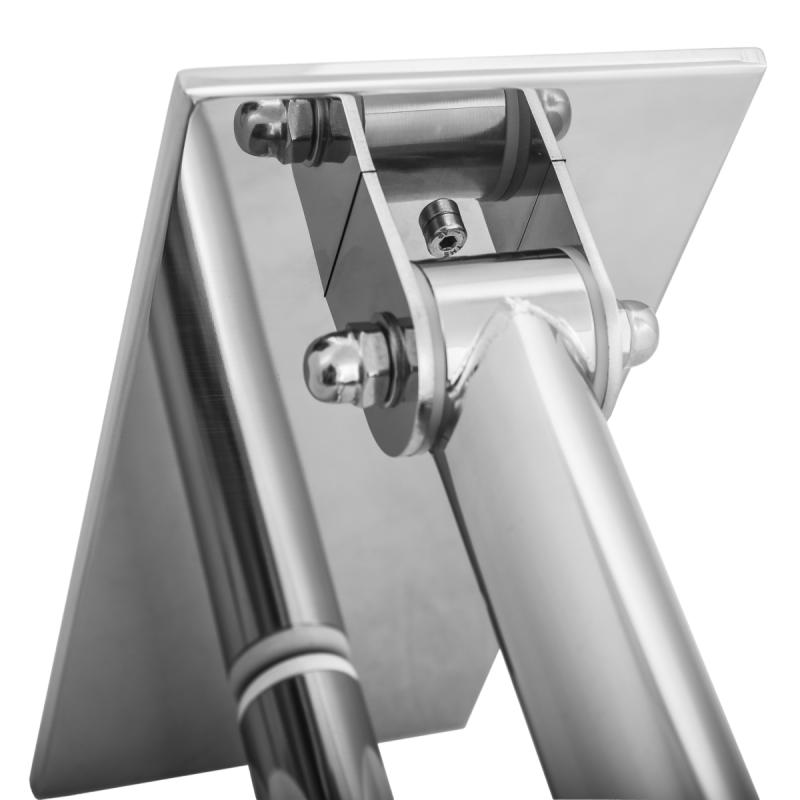 Klappgriff mit Stützbein am WC o. Waschbecken für barrierefreies Bad 60cm aus rostfreiem Edelstahl ⌀ 32 mit Abdeckplatten