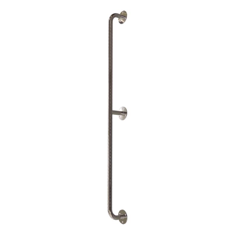 Gerader Handlauf für barrierefreies Bad 130 cm aus rostfreiem Edelstahl ⌀ 25 mm