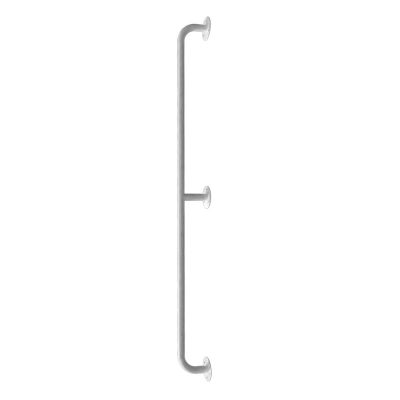 Handlauf für barrierefreies Bad 190 cm weiß ⌀ 25 mm