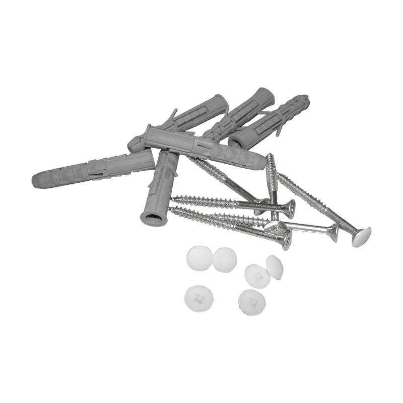 Stumpfwinkelgriff 30/30 cm für barrierefreies Bad links/rechts montierbar weiß ⌀ 25 mm