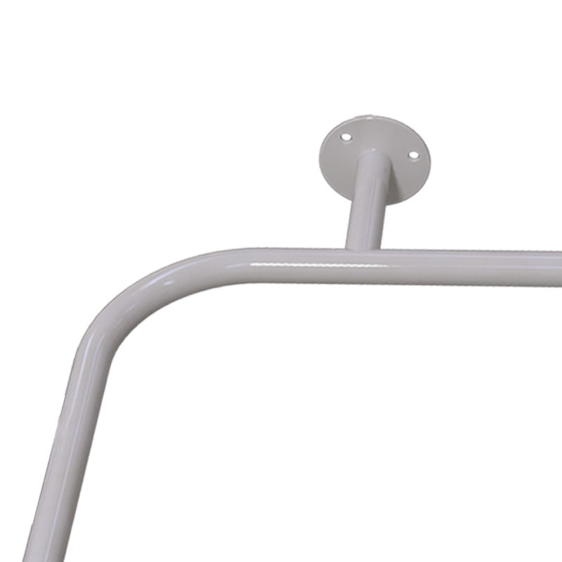 Duschhandlauf Winkelgriff für barrierefreies Bad 70/70 cm weiß ⌀ 25 mm
