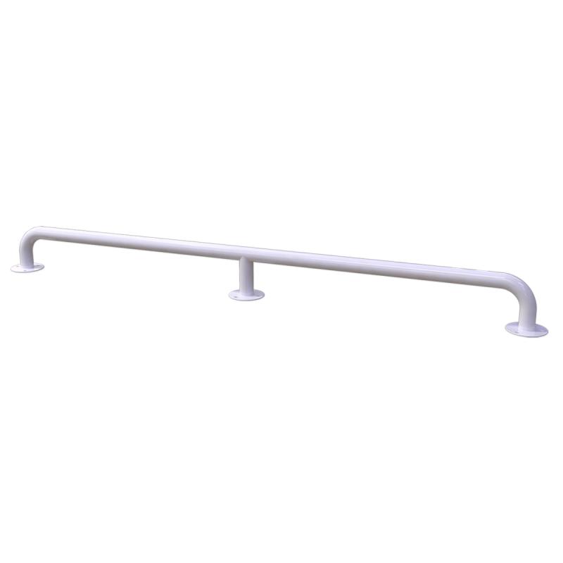 Handlauf für barrierefreies Bad 190 cm weiß ⌀ 32 mm