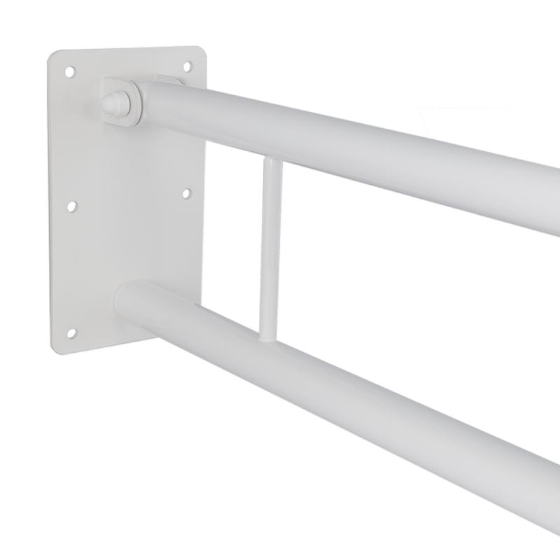 Klappgriff am WC oder Waschbecken für barrierefreies Bad weiß 60 cm ⌀ 32 mm
