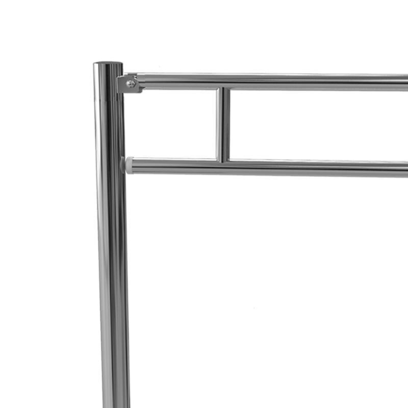 Klappgriff zur Bodenmontage am WC o. Waschbecken für barrierefreies Bad 60cm aus rostfreiem Edelstahl ⌀ 32 mit Abdeckplatten