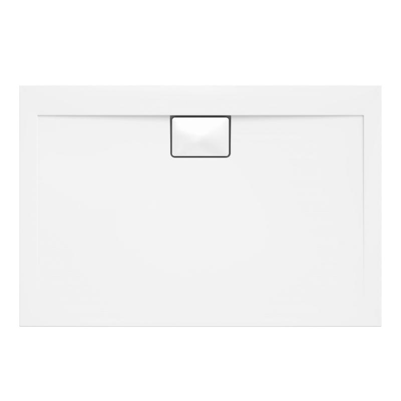 Weiße Duschwanne für barrierefreies Bad 120 x 80 cm
