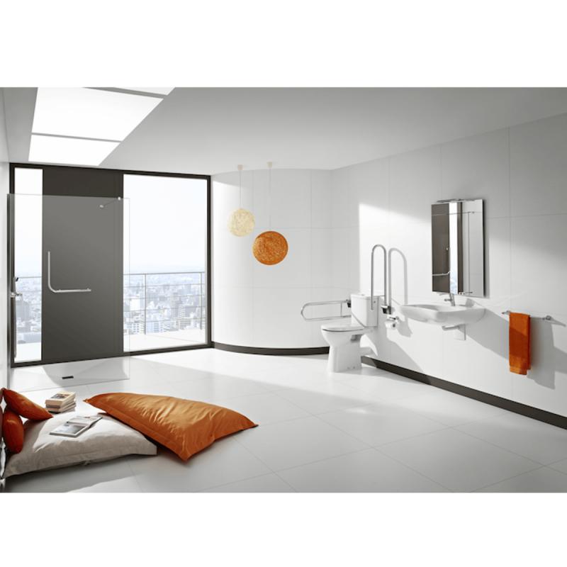 Unterfahrbarer Waschtisch für barrierefreies Bad 64 x 55 cm mit Befesigungsmaterial ohne Überlauf