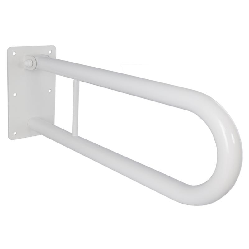 Klappgriff am WC für barrierefreies Bad weiß 85 cm weiß ⌀ 32 mm
