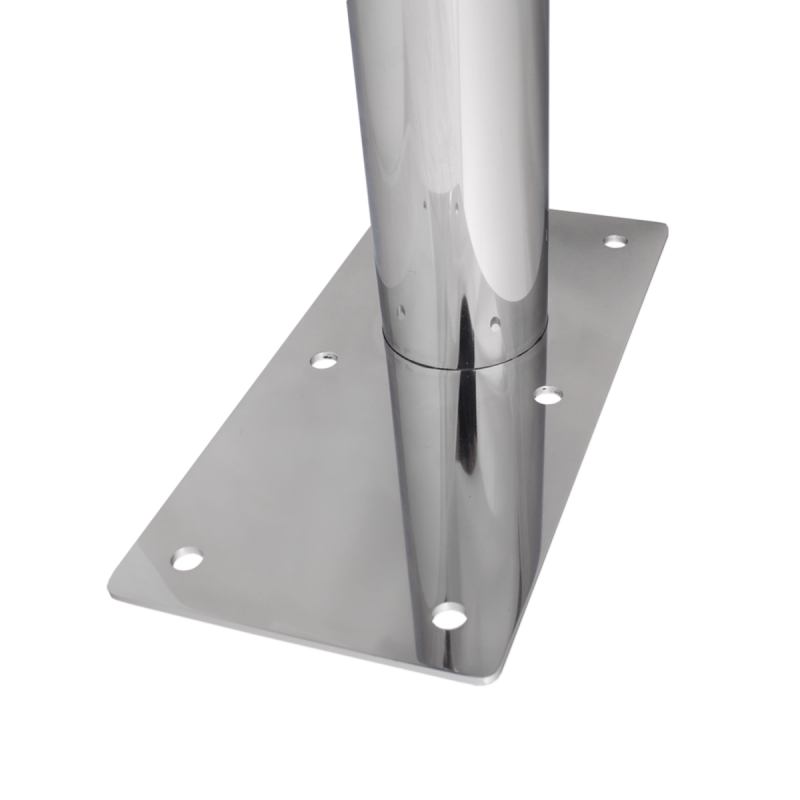 WC Klappgriff freistehend für barrierefreies Bad 70 cm aus rostfreiem Edelstahl ⌀ 25 mm