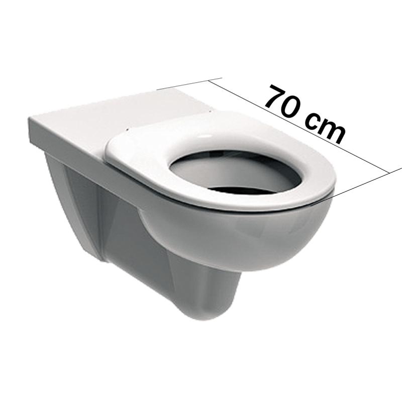 Wand WC für barrierefreies Bad mit 70 cm Ausladung
