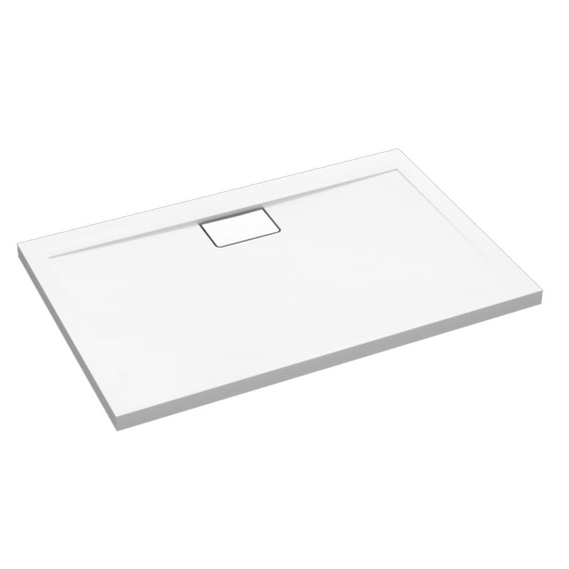 Weiße Duschwanne für barrierefreies Bad 140 x 80 cm