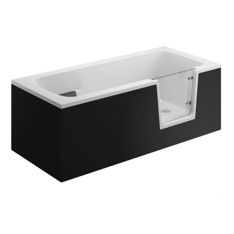 Seitenpaneel für AVO / VOVO Badewanne 180 cm schwarz