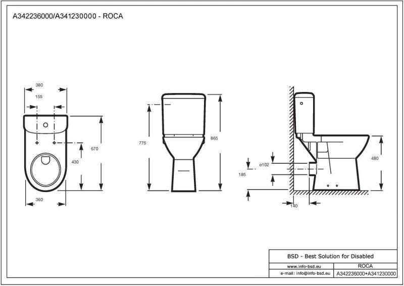 Spülkasten für Aufsatzmontage in halbovaler Form mit Befestigungsmaterial