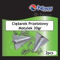 CIĘŻAREK PRZELOTOWY MOTYLEK 30gr (3pz)