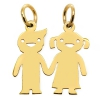 Złota zawieszka 585 dzieci CHŁOPIEC & DZIEWCZYNKA