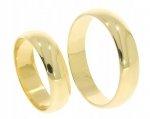 Obrączki ślubne złote 585 półokrągłe 5 mm