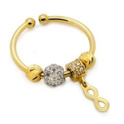 Złoty pierścionek 585 z przywieszką