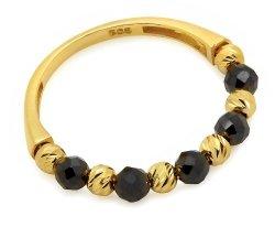 Złoty pierścionek 585 z kuleczkami