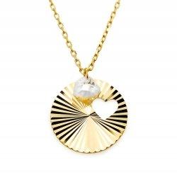 Złoty naszyjnik 585 diamentowane serce