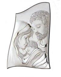 Srebrny obrazek Ryngraf na ślub chrzest rocznica
