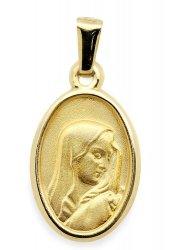 Złoty medalik 585 Matka Boska