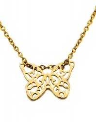 Złoty naszyjnik 585 motylek