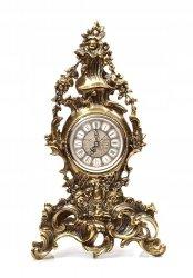 Mosiężny zegar kominkowy stylowy