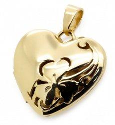 Złoty sekretnik 585 serce
