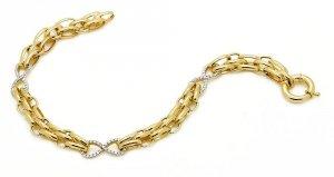 Złota bransoleta 585 podwójna