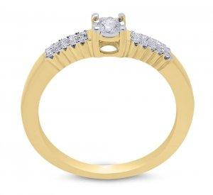 Złoty pierścionek zaręczynowy 585 brylant 0,15ct