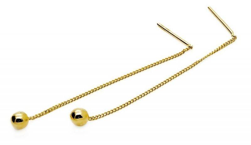 Złote kolczyki 585 kuleczki