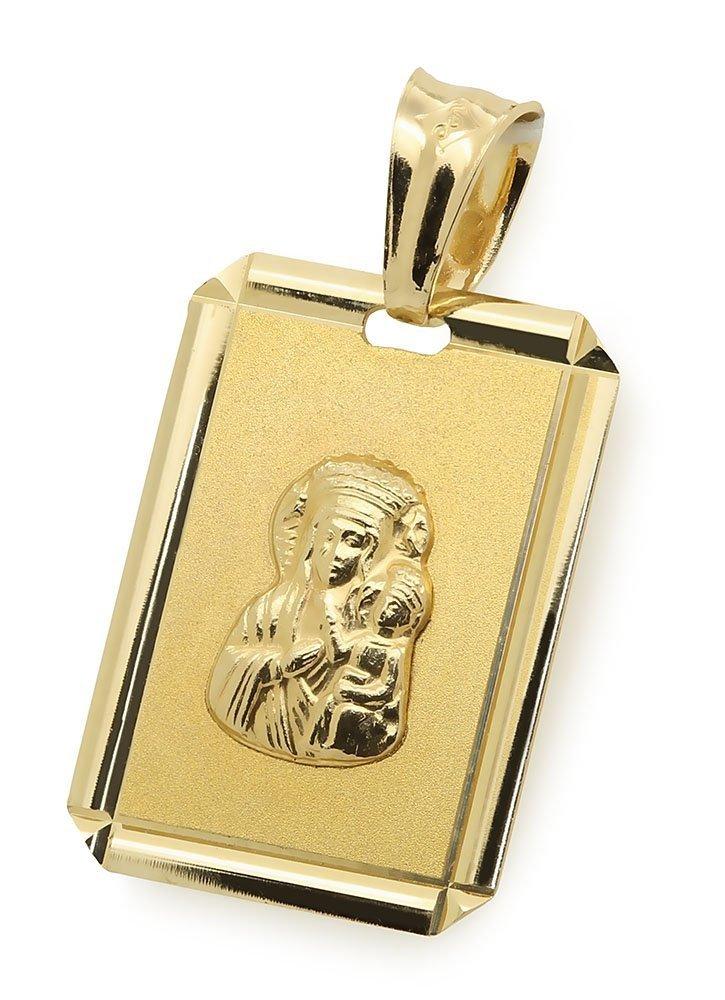 Zloty medalik 585 Matka Boska