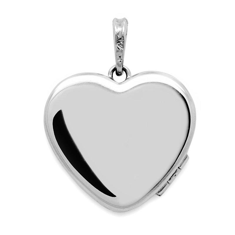 Srebrny sekretnik puzderko serce z grawerem naszyjnik dedykacja