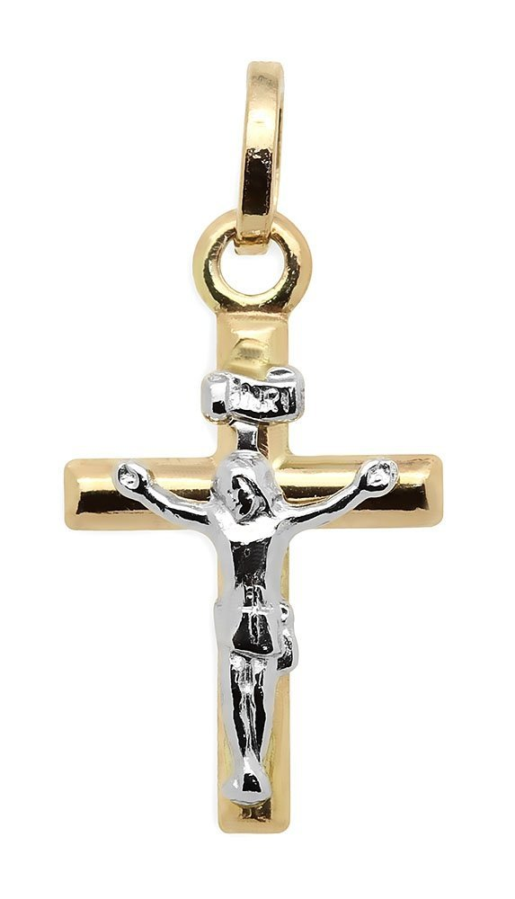 Złoty krzyżyk 585 białe złoto