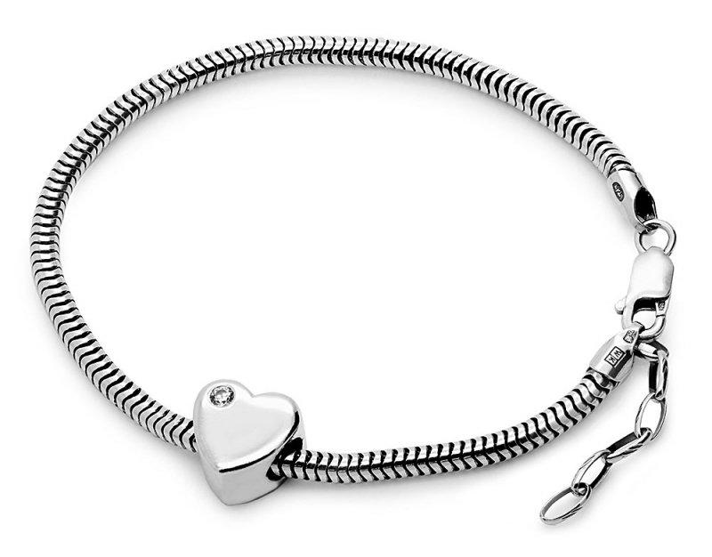 CHARMS do pandora srebro 925 serce stópki dla MAMY z grawerem