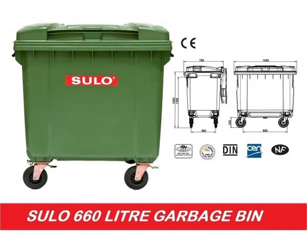 Pojemnik na odpady SULO 1100l BIO