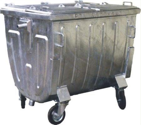 Metalowy pojemnik SM 1100 klapa w klapie (blacha czarna) - malowany proszkowo.