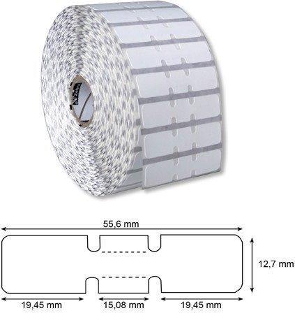 Etykiety jubilerskie ( z zakładkami) 56x13 - 5231szt.