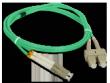 Patchcord FO Duplex 50/125 LC/SC 2m OM3