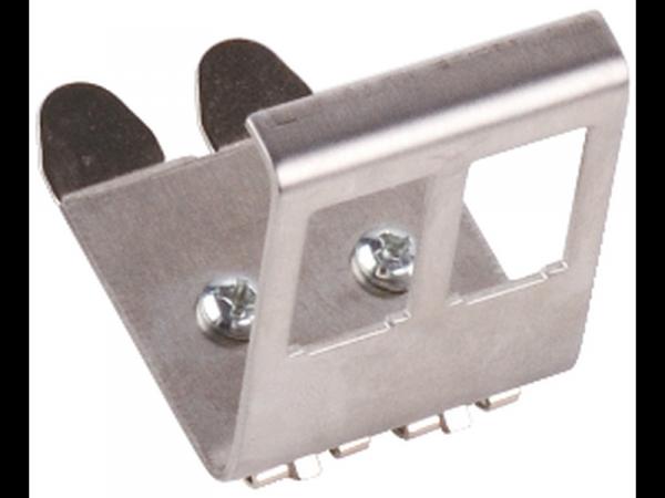 Adapter 2xRJ45 2x keystone na szynę DIN TH-35