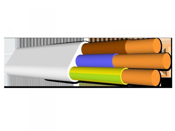 Przewód Qlantec YDY 3x1,5 750V - 100mb (krążek) płaski