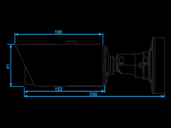 Kamera IP tubowa, 3 Mpx, 3.0-10.5mm, zmotoryzowany obiektyw AVIZIO PRO