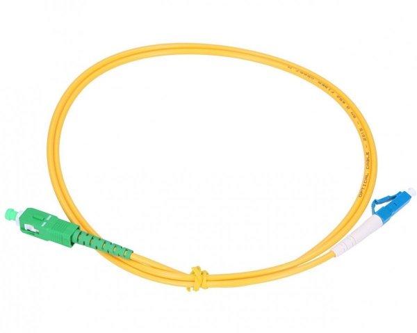 Patchcord SC/APC-LC/UPC simplex SM 1m